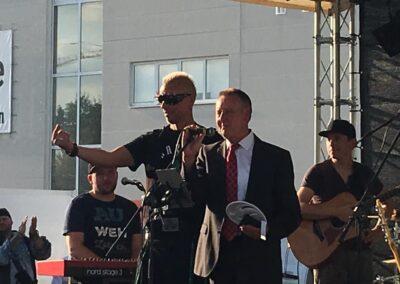 Udo Schick mit Bürgermeister Thomas Jung