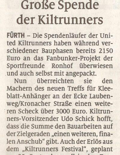 Spende Fanbunker Fürth